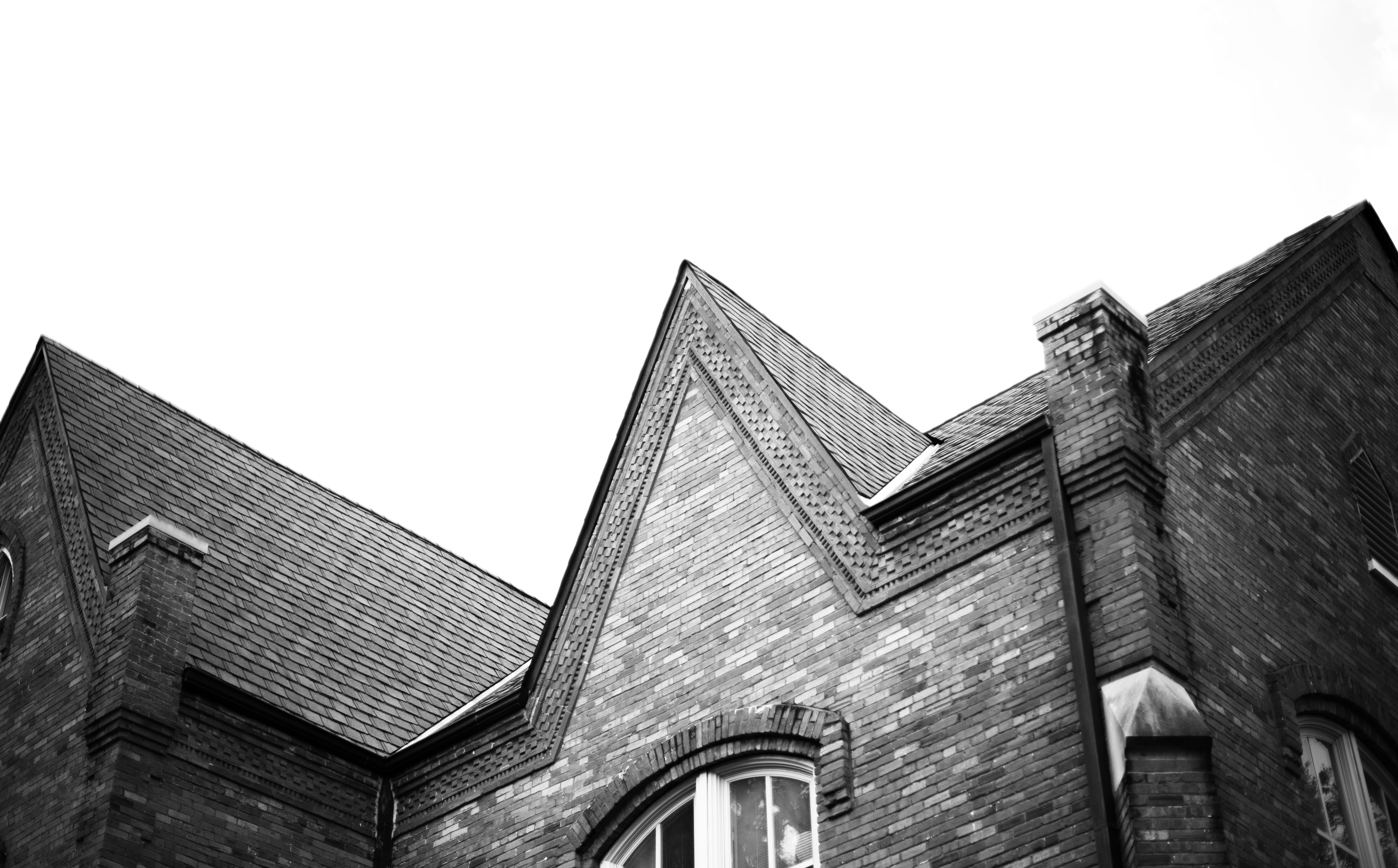 roofline of one of the Blount academic houses